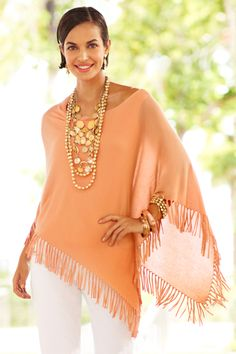 I'm a poncho girl! Perfect with denim in the spring or fall. Wishing I had more colors in this!