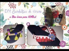 Sandalias de verano estilo Boho Chic, cómo decorar tus chanclas DIY. - YouTube