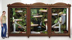 converting metal shelves to reptile enclosure