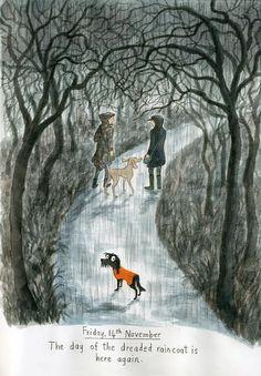 From Emma Chichester Clark's PLUMDOG BLOG. Quirky Art, Children's Book Illustration, Pet Portraits, Pet Birds, Illustrators, Art Drawings, Pictures, Dog Artwork, Chichester