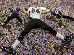 Well, alright, maybe Billy Bajema and his kids like confetti a little bit more.(Photo: Marcio Sanchez, AP)