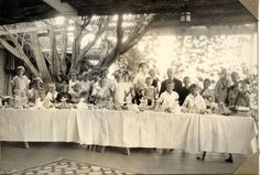 "A birthday party at the Hartranft home, the Lazy Lonesome Ranch, for Bud Hartranft, son of Marshall and Lou Hartranft. Marshall Hartranft was one of the three men instrumental in establishing the Utopian community of the ""Little Lands"" in the Sunland-Tujunga area.  Little Landers Historical Society. San Fernando Valley History Digital Library."