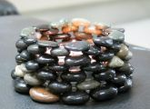 Beautiful candle holder made from stones - Lots of ROCK CRAFTS