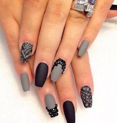 mat nail art