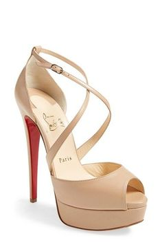 christian louboutin satin stiletto sandals