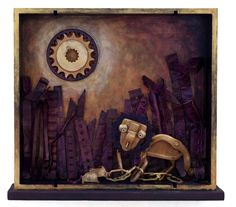 An assemblage version of Aesop's The Lion and the Mouse, by Scott Rolfe