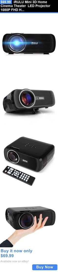 Home Audio: Irulu Mini 3D Home Cinema Theater Led Projector 1080P Fhd Hdmi Av Usb Vga Pc Sd BUY IT NOW ONLY: $69.99