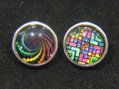 Noosa Chunk Charms 12mm Vibrant Geometric for Noosa Style Rings, Bracelets, Pendants and Jewellery