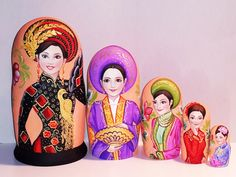 Country beauties -Vietnam Matryoshka www.matrioskas.es