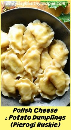 Polish Cheese and Potato Dumplings (Pierogi Ruskie) Polish Cheese and Potato Dumplings (Pierogi Ruskie) are a classic Polish dish, popular all year round accompanying celebrations and family gatherings. It's also one of the traditional dishes served on Ch Pierogi Recipe, Dumpling Recipe, Pierogies And Kielbasa, Recipes With Lasagna Noodles, Pierogies Homemade, Pierogi Filling, Best Dumplings, Asian Recipes, Ethnic Recipes