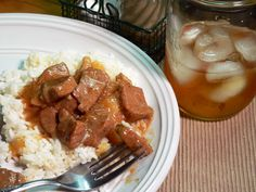Beef Tips with Rice and Gravy