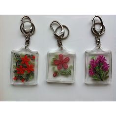 Quilled keychains...would make cute gifts :))