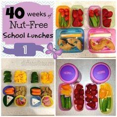 Week 1 Nut Free School Lunches
