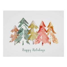 Painted Christmas Cards, Diy Christmas Cards, Xmas Cards, Christmas Art, Christmas Cards Drawing, Gift Cards, Watercolor Christmas Tree, Christmas Paintings, Watercolor Postcard