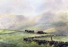 Allan Kirk @tarnincolour 'Moors at Holmfirth'
