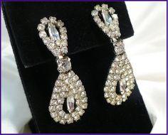 Glamorous Rhinestone Drop Earrings ~ Double Loops of Glam! by MarlosMarvelousFinds, $21.99