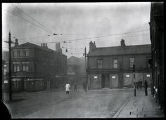junction of crossbank st and manchester st, Oldham, Manchester Street, Manchester Police, Local History, Our World, Ghosts, North West, Sketching, 1930s, Good Times