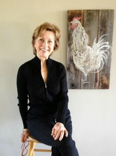 Meet the Maker: Mary Lee Rybar Mary Lee, Chickens And Roosters, Williams Sonoma, Art World, Barn Wood, Painting Inspiration, Wood Crafts, Diy Projects, Branding