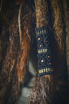 Statement macrame 2 inches tribal dread jewellery by DaturaNatura