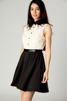 Kelly Boohoo Pink Monochrome Sleeveless Shirt Dress