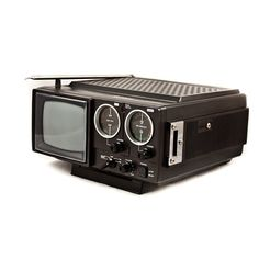 Vintage Television Portable TV with Radio by goodmerchants on Etsy, History Of Television, Vintage Television, Television Set, Pet Monsters, Consumer Technology, Portable Tv, Electrical Cord, Tv Sets, Old Computers