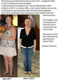Try Skinny Fiber for 30 Days, If you DON'T LIKE IT, We offer a 30Day Money Back Guarantee! You can visit my Website for more Info http://cut.vg/feelgreat