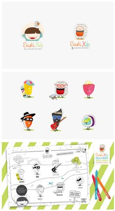 Sushi Kids by SOPHIAN , via Behance