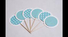 Decorazioni - Cupcake Topper / Decorazioni di carta per dolci - un prodotto unico di PaperConfetti su DaWanda