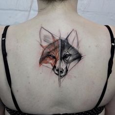 Fox tattoo by Kamil Mokot