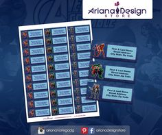 Avengers Printable and Personalized Address Labels. Avengers Printable Party Kit / Etiquetas para Direcciones Imprimibles y Personalizadas inspiradas en Avengers. Los Vengadores Imprimibles para fiestas.  #etiquetas #arianadesignstore #label #mail #stickers #letter #pegatinas #printable #party #avengers #losvengadores #customlabel #customenvelope #envelope #stationary #ironman #hulk #captainamerica #thor Invitation Kits, Printable Invitations, Printables, Avengers, School Labels, Mailing Labels, Ironman, Name Tags, Return Address Labels