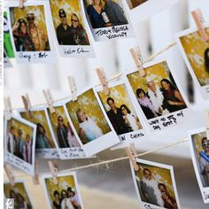 replace your name with a polaroid of yourself from the DIY photo booth! Guests will know who is there as well as take them down at the end for the guestbook. THIS IS WHAT I'M DOING