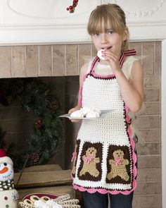 Just as yummy as the treats she'll help you bake, this darling crocheted apron will be a seasonal favorite.