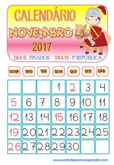 Calendário reformulado - Novembro 2017