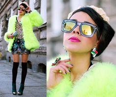 Big neon BIRD (by Tamara Gonzalez Perea) http://lookbook.nu/look/4491927-Big-neon-BIRD