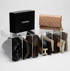 GLAMboxes - absolutely stunning way to organize your handbags and clutches! We are obsessed! #organize