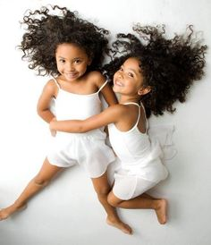 ❦ double the cuteness ❦ I want twins one day... cute little mixed twins!
