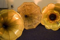 3 gramophone horns by cybraphon