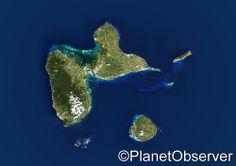 Guadeloupe - Satellite image - PlanetObserver