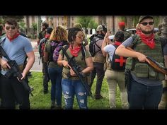ARMED LEFTISTS RALLY AT ARIZONA STATE CAPITOL - YouTube