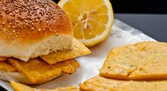 Italy is full of delicious and inventive vegan dishes that were around long before the words 'soya burger' were invented! In the photo: sicilian panelle- fried chick-pea patties served with lemon juice in a sesame seed bun.