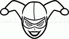 quinn harley easy draw step dragoart drawing dc joker drawings face cartoon simple steps batman painting tutorial imgs comics