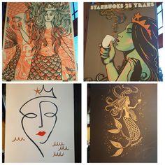Beautiful Siren Art Work at the Roastery - StarbucksMelody.com Starbucks Siren, Art Work, Poster, Beautiful, Artwork, Work Of Art, Billboard
