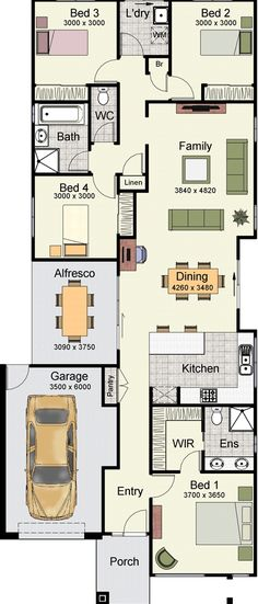 9m Narrow Block House Designs Google Search New Homes