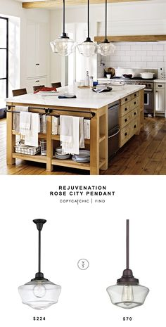 Rejuvenation Rose City Pendant for $224 vs @dlighting Clear Glass Schoolhouse Pendant for $70 copycatchic luxe living for less budget home decor http://www.copycatchic.com/2017/03/rejuvenation-rose-city-pendant.html?utm_campaign=coschedule&utm_source=pinterest&utm_medium=Copy%20Cat%20Chic&utm_content=Rejuvenation%20Rose%20City%20Pendant