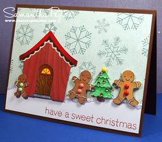 Copic card using the Lawn Fawn - Sweet Christmas stamp set.  Made by Samantha