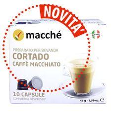 10 CAPSULE COMPATIBILI NESPRESSO MACCHÈ CORTADO CAFFÈ MACCHIATO