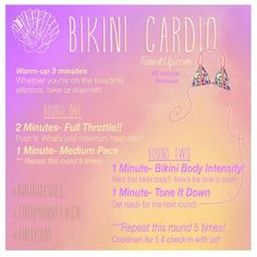 o get that bikini body, you'll need to do three things in combination: a cardio workout, strength training routines and stretching exercises. unlmtdhairstyle.com