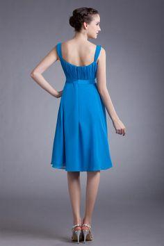 osell wholesale dropship Chiffon Ruffle Square Collar Knee Length Pleated Little Black Dress $61.49