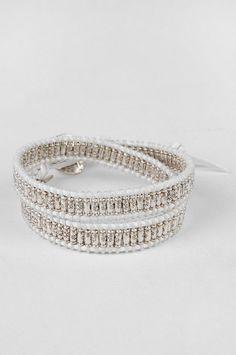 M. Cohen : double wrap sterling silver macrame bracelet
