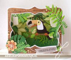 Flip Cards, Pop Up Cards, Marianne Design Cards, Elizabeth Craft Designs, Jungle Party, Beautiful Handmade Cards, Bird Cards, Animal Cards, Paper Crafting